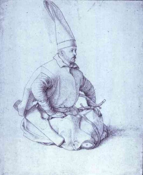 A Janissary drawing by Gentile Bellini (15th century)