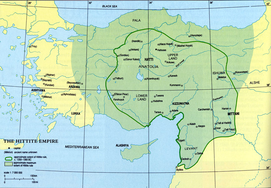Maps Hittite Empire