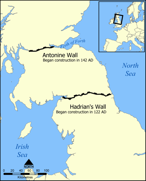 Hadrians Wall map