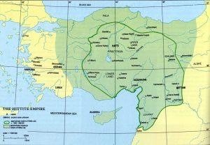 Map of Hittite Empire