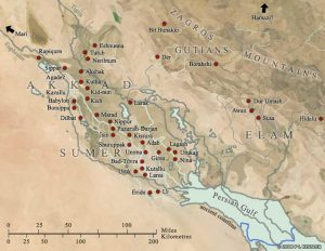 Mesopotamia city states Uruk Elam Larsa Akkad - Ancient World Maps