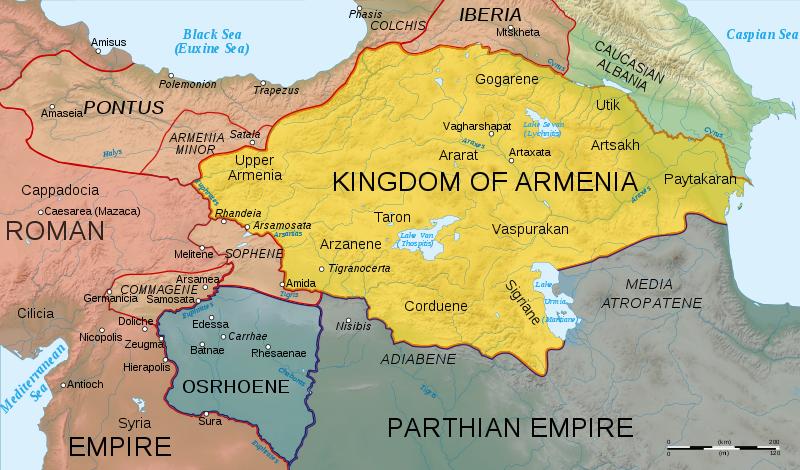 Arsacid Armenia Arshakunyan Arshagounian map