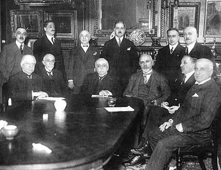 The big reunion of AGBU's administrative members, at Boghos Nubar's home in Paris, 1925