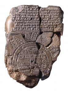 Babylonian map, the oldest known world map, 6th century BCE