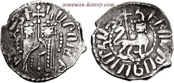 King Hetoum I, Queen Zabel 1226-1270. Half Tram