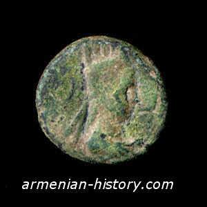 Artavasdes (Artavazd) II (55 - 34 BC). Tetrachalkous.