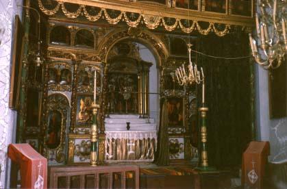The altar of the Armenian church in Targu-Ocna.