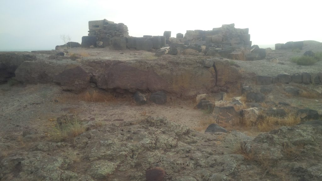 The remains at the archaeological site of ancient Armavir