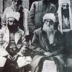 Front row, left to right: Shiekh Sherif, Sheikh Said, back row: Sheikh Hamid, Major Kasim (Kasım Ataç), Sheikh Abdullah.