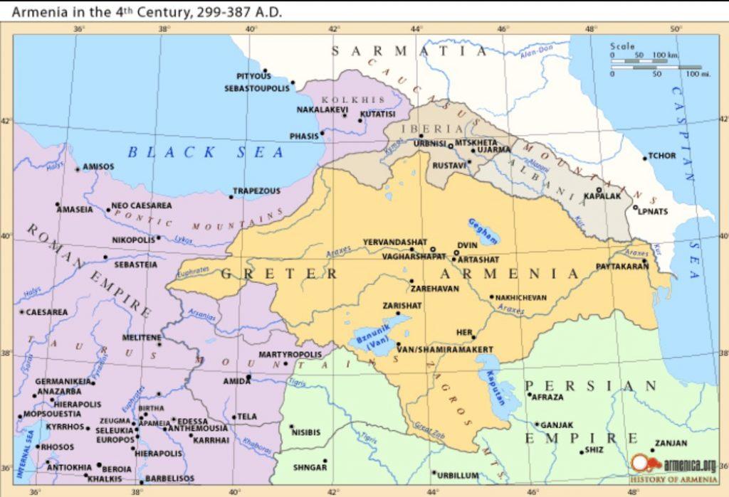 Armenia in 4th century - End of Arshakuni (Arsacid) Dynasty