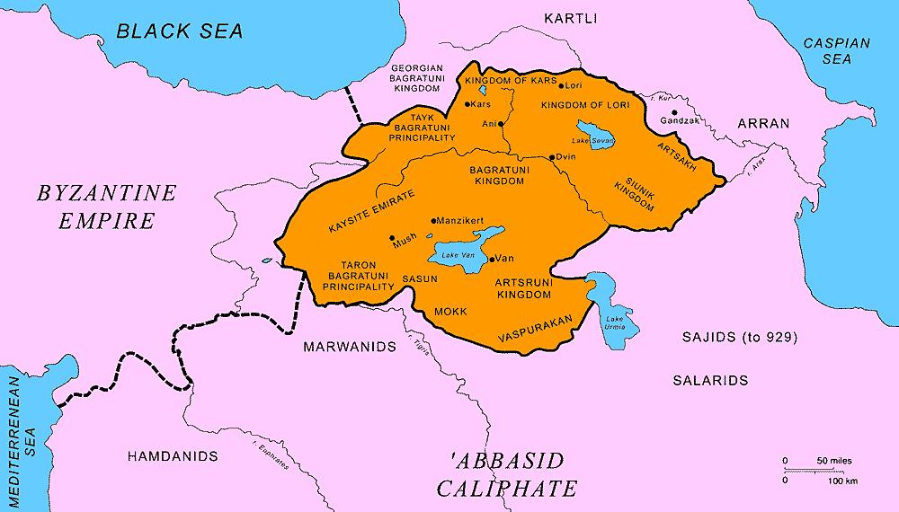 Bagratuni_Armenia_map
