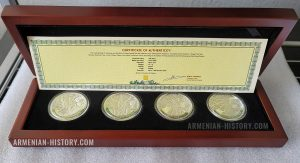 The oldest trees of the world silver coin Armenia