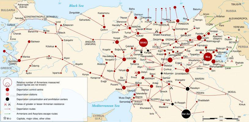 Armenian Genocide Map
